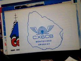 QSL CARD   RADIO AMATORIALE URUGUAY MONTEVIDEO V1990 HQ10082 - Radio Amateur