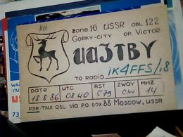 QSL CARD   RADIO AMATORIALE RUSSIA  CCCP MOSCA  GORKY USSR  V1986 HQ10084 - Radio Amateur