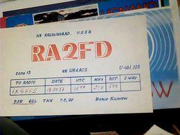 QSL CARD   RADIO AMATORIALE RUSSIA  CCCP KALININGRAD USSR  V1987 HQ10087 - Radio Amateur