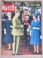 Journal Revue PARIS MATCH N° 575 - 16 Avril 1960 Charles De Gaulle à Londres Elisabeth II - Chez Les Chasseurs De Tête * - Zonder Classificatie
