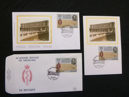 "BELG.1991 2416 FDC & FDC Zijde/soie & Mcard Zijde/soie : "" Acédemie Royale "" - FDC"