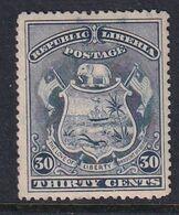 Liberia 1896 Sc 45 Mint Hinged - Liberia