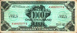 19797) BANCONOTA Da 1000 AM LIRE Occupazione Militare Alleata 1943 A Bilingue -banconota Non Trattata.vedi Foto - [ 3] Emissioni Militari