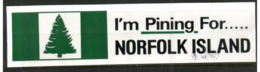 (stamps 7/8/2020) - Norfolk Island - Stickers Collectable X 2 - Andere Verzamelingen