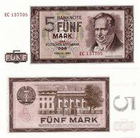 GERMANY, DEM. REP. (DDR)       5 Deutsche Mark       P-22       1964        UNC - [ 6] 1949-1990: DDR - Duitse Dem. Rep.