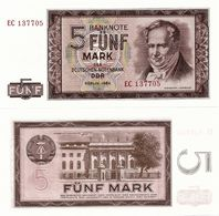 GERMANY, DEM. REP. (DDR)       5 Deutsche Mark       P-22       1964        UNC - [ 6] 1949-1990 : RDA - Rep. Dem. Tedesca