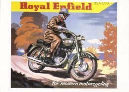Royal Enfield Motor Cycles  -   Fine Art Advertising Postcard   - CP - Postales