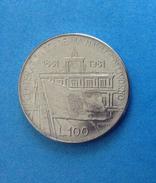 1981 ITALIA REPUBBLICA ITALY COIN MONETA 100 LIRE ACCADEMIA NAVALE DI LIVORNO FDC UNC DA ROTOLINO - 1946-… : Republic