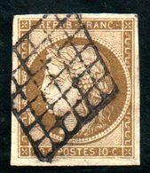 A SAISIR - YT N° 1c Signé Brun + Certficat Robineau - Cote: 1000,00 € - 1849-1850 Cérès