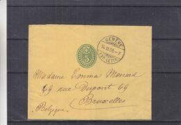Suisse - Bande Pour Journaux De 1900 - Entier Postal - Oblit Genève - Exp Vers Bruxelles - - Cartas
