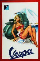 """Moto VESPA  """"PIN-UP Femme Yachting"""" - Publicité Constructeur Piaggio - Pin-Ups"""