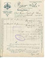 Facture FREYDIER GOUY Chaux Hydraulique Et Ciments à CRUAS VIVIERS ARDÈCHE 1905 - France