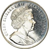 Monnaie, Falkland Islands, Elizabeth II, Crown, 2007, Pobjoy Mint, Année - Falkland