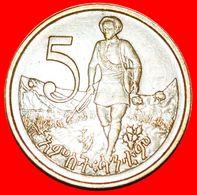 · LION OF JUDAH AND GUN: ETHIOPIA ★ 5 CENTS 1969 (1977) GREAT BRITAIN! LOW START ★ NO RESERVE! - Etiopía