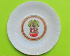 Ancienne ASSIETTE à Dessert - Publicité CHAMBOURCY - Arcopal - Diamètre Environ 19 Cm - Année  (possible 6 Assiettes) - Plates