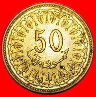 · NON-MAGNATIC (1960-2009): TUNISIA ★ 50 MILLIEME 1413-1993 MINT LUSTER! LOW START ★ NO RESERVE! - Tunisia