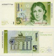 GERMANY, FED. REP. (BRD)       5 Deutsche Mark       P-37       1.8.1991        UNC - [ 7] 1949-… : RFA - Rep. Fed. Tedesca