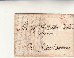 Milano Per Casalbuttano, Lettera Con Contenuto. Timbro Pedone Postale Anno 1779 - 1. ...-1850 Prefilatelia