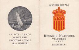Carte De Membre - 1948/49 - Société Royale Nautique - Réunion Nautique Vilvorde - Mappe