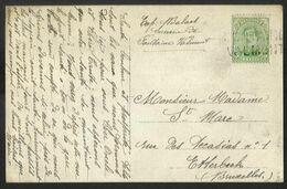 Belgique - Obl.fortune 1919 - 2 Scan - Obl. Linéaire FONTAINE-VALMONT + Verso Pont Sauté à Proximité De La Gare - Unclassified