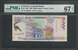 Suriname 5000 5,000 Gulden 1999 PMG 67 EPQ TOP POP - Suriname