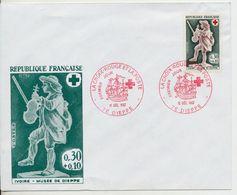 Enveloppe - La Croix Rouge Et La Poste - Premier Jour 1967 - Musée De Dieppe - Non Classificati