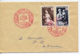 Enveloppe - La Croix Rouge Et La Poste - Premier Jour 1953 - - 1950-1959