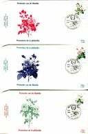 14189011 19890415 Tournai; Roses, Redouté; 3 FDC Cob2318-20 - FDC