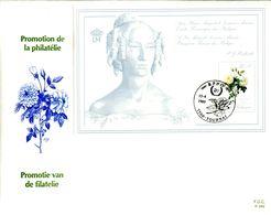 14189012 19890415 Tournai; Roses, Redouté, Reine Louis-Marie; FDC Gd Format Cob  Bf65 - FDC