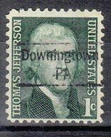 USA Precancel Vorausentwertung Preo, Locals Pennsylvania, Downingtown 843 - Estados Unidos