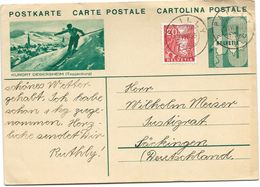 "160 - 13 - Entier Postal Avec Illustration ""Kurort Degersheim"" Superbes Cachets à Date Gilly 1935 - Entiers Postaux"
