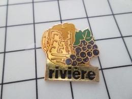 216b Pin's Pins / Beau Et Rare / THEME : BOISSONS / BOCK BIERE RAISIN NOIR VIN RIVIERE Je Ne Boirai Pas De Ton  Eau ! - Bierpins