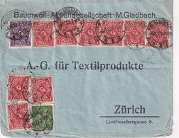 ALLEMAGNE 1922 LETTRE DE M'GLADBACH POUR ZURICH - Allemagne