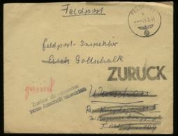 WW II DR Feldpostbrief ,retour:gebraucht 44078 Armee-Gasschutzschule Chantilly Frankreich - Lazarett Warschau 1941, Be - Duitsland