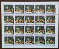 Madagascar - Feuille De 20 Timbres - YT N°476 - Flore / Fruits - 1970 - Neuf + COIN DATE - Madagascar (1960-...)