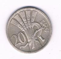 20 HALLER  1928  TSJECHOSLOWAKIJE /6213/ - Tchécoslovaquie