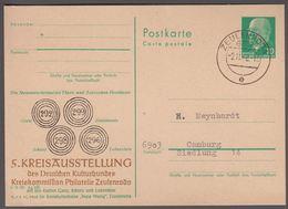 1968. DDR, 10 Pf. Postkarte , Walter Ulbrecht. 5. KREISAUSSTELLUNG Des Deutschen Kult... () - JF365285 - Postkarten - Gebraucht