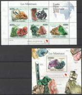 UC222 2011 UNION DES COMORES FAUNE FLORE MINERAUX LES MINERAUX 1KB+1BL MNH - Minerals