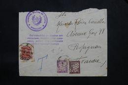 """ESPAGNE - Enveloppe De L 'Hôpital Militaire De Vitoria Pour La France En 1938 , Voir Griffe """" Espionaje """"  - L 65958 - Marques De Censures Nationalistes"""