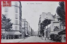 Cpa 75 PARIS 14e Anime Rue Friant Commerces - District 14