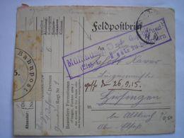 Front De L'est - Courrier Militaire De Breslau Pour L'Alsace Avec Censure De Mulhouse ( Mulhausen ) En 1915 - Alsazia-Lorena