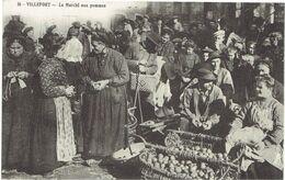 CPA FRANCE 48 LOZERE VILLEFORT - Le Marché Aux Pommes - Villefort