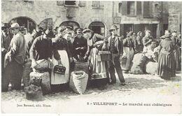 CPA FRANCE 48 LOZERE VILLEFORT - Le Marché Aux Châtaignes - Unclassified