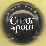 Capsule De Muselet - Coeur De Pom - [cidre - Blanc Et Gris Sur Noir] - Kroonkurken