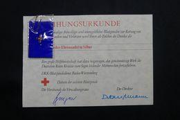 CROIX ROUGE  - Document De La Croix Rouge Allemande De Baden Württemberg En 1985 - L 65963 - Alte Papiere