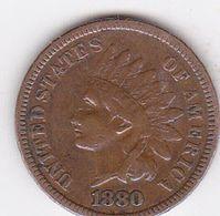 États-Unis - Monnaies Indian Head One Cents 1880/1887 - Bronze - Émissions Fédérales
