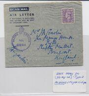 Base Army PO, Type D, Air Letter 26-MY-1943, Algiers / Foyer Civique - 1902-1951 (Rois)