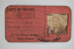 3210/Carte De Travail Mossiat H/ S.A Ougrée-Marihaye Usines-Aciérie -1944 - Maps