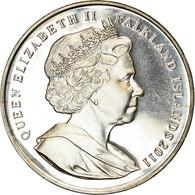 Monnaie, Falkland Islands, Elizabeth II, Crown, 2011, Pobjoy Mint, Mariage Du - Falkland