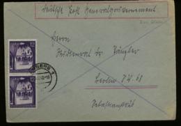 WW II GG Generalgouvernement Polen Briefumschlag : Gebraucht Lemberg Galizien - Berlin 1942 , Bedarfserhaltung. - Germany